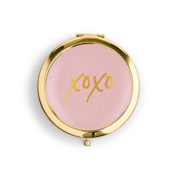XOXO Vegan Leather Compact Mirror