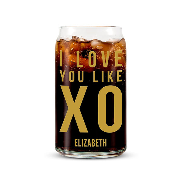 I love you like XO Summer Drinking Glass