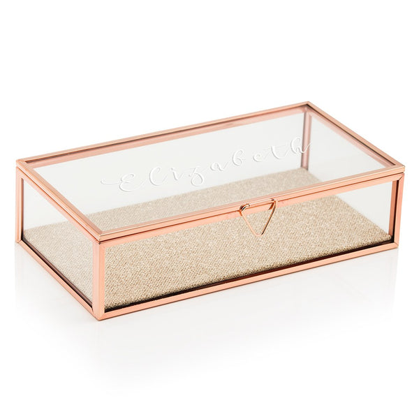 Calligraphy Script Personalized Jewelry Box