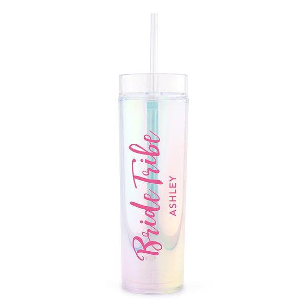 Bride Tribe Script Custom Drink Tumbler