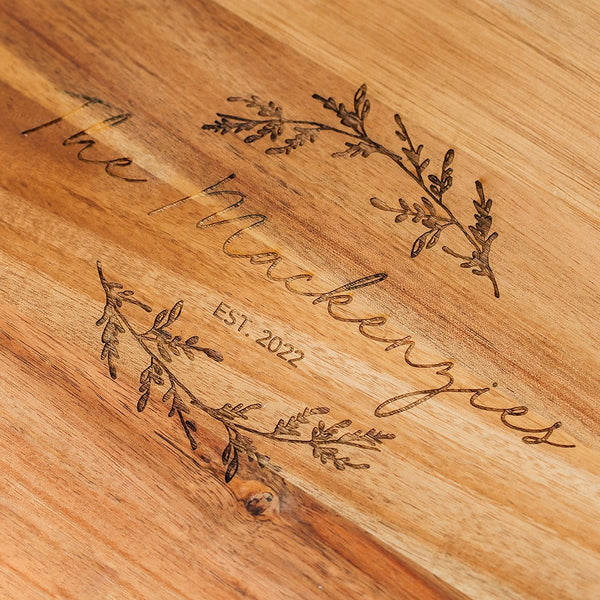 Rustic Chic engraved rectangle cutting board