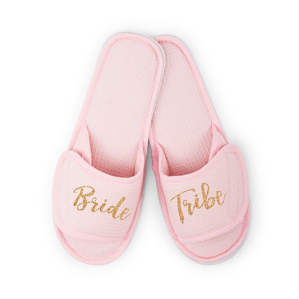 Bride Tribe Cotton Waffle Slippers