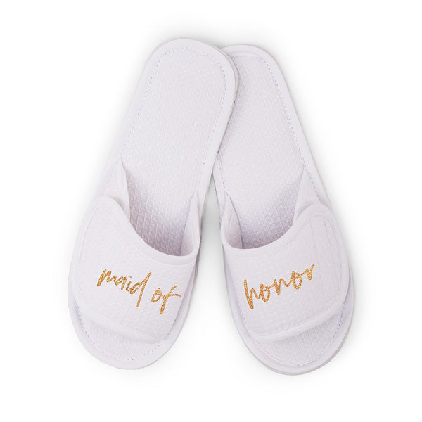 Maid of Honor Cotton Waffle Slippers