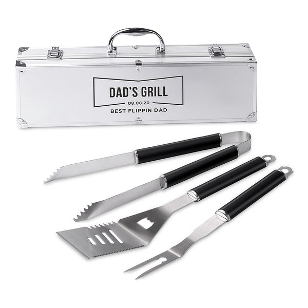 Custom Stainless Steel BBQ Grill Set - Dad's Grill