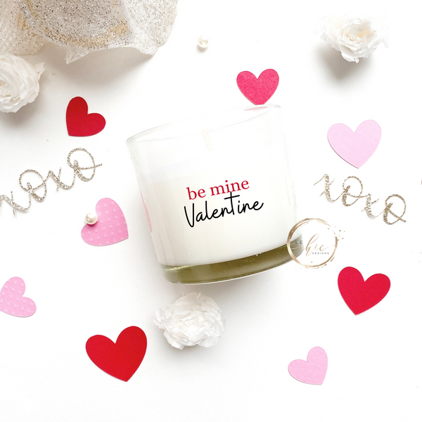 be mine Valentine Candle