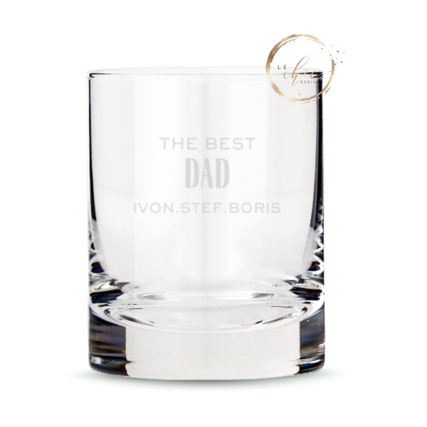 Custom Old Fashioned Whiskey Glass-Father's Day
