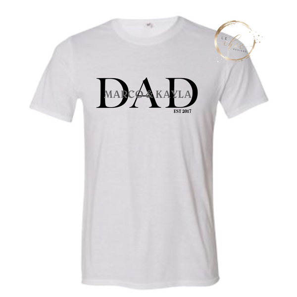 Custom Dad|Papa|Grandpa Men's T-shirt