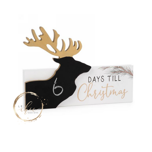 Days until Christmas Chalkboard