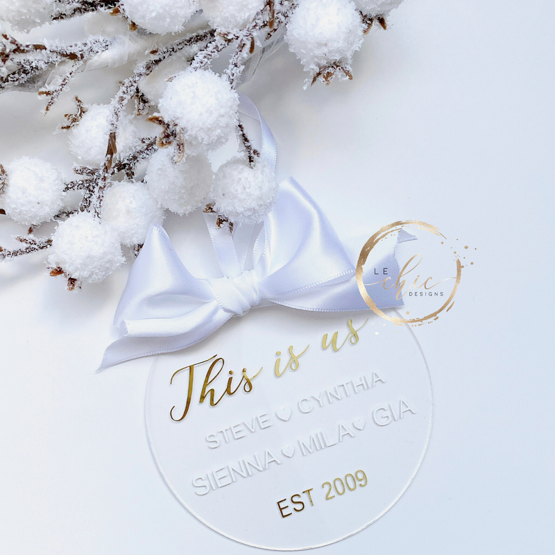 This is us Acrylic ornament