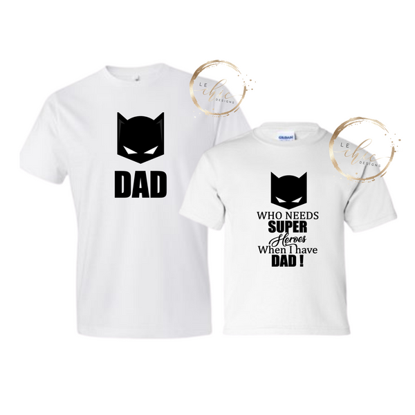 Superhero Dad & Me  T-shirt set