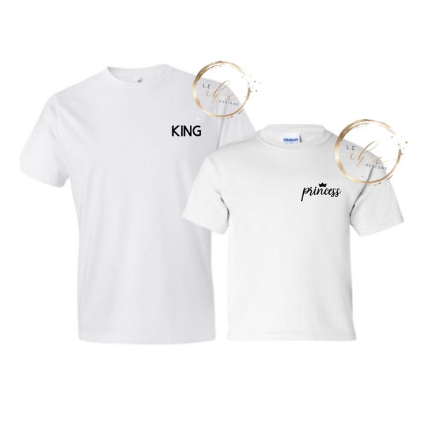 King & Princess T-shirt set
