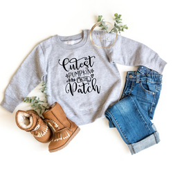 Cutest Pumpkin in the patch youth crewneck