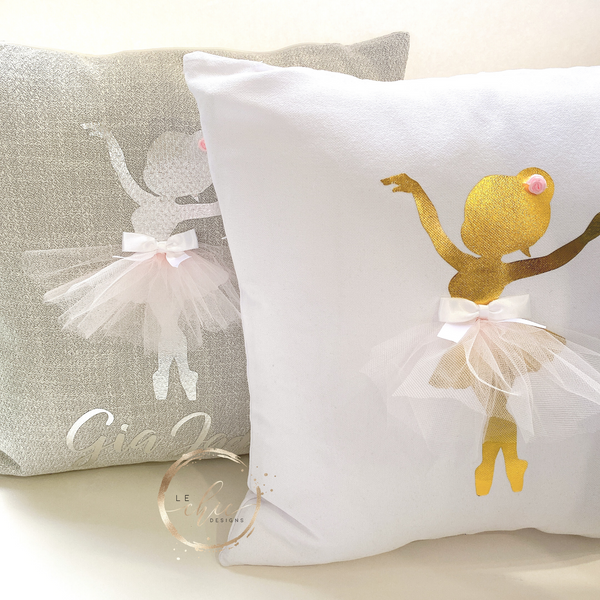 Ballerina Tulle Personalized Cushion