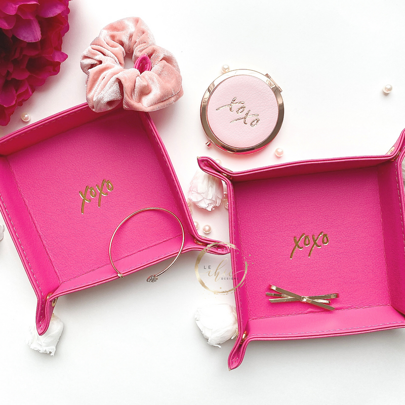 Xoxo Monogram Embosed Jewelery Tray