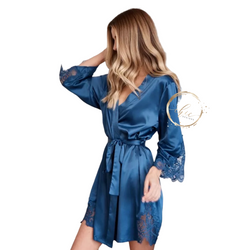 Ava Satin & Lace Robe