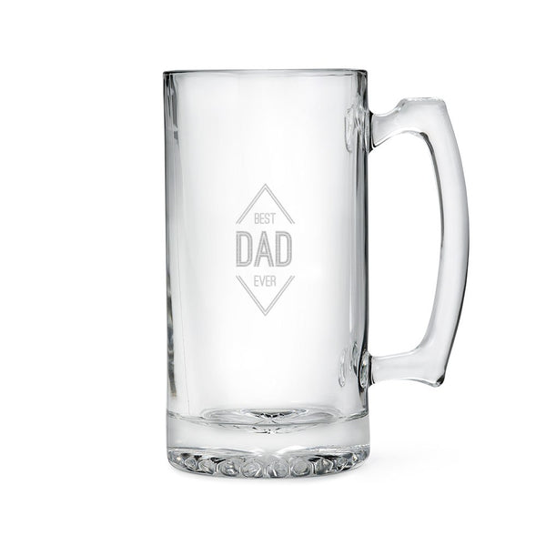 Large Glass Beer Mug – Best Dad Ever