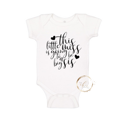 Going to be a big sis Onesie