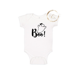 Boo with Bow Onesie