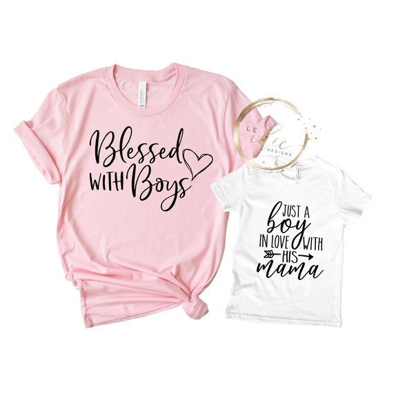 Blessed with Boys T-Shirt Set