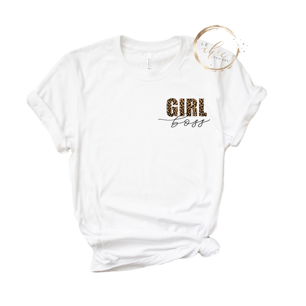 Girl Boss Leopard  T-Shirt