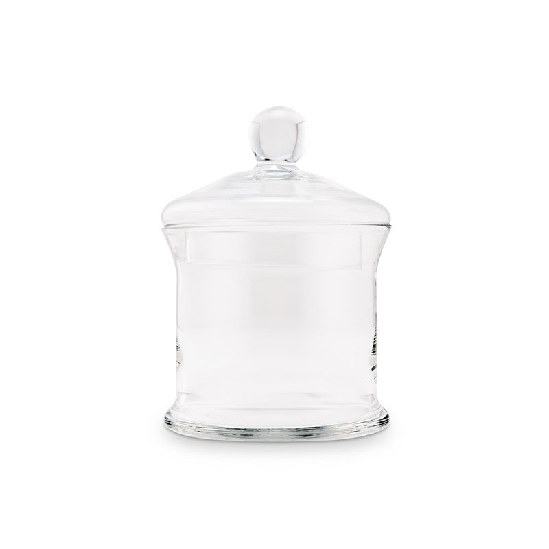 Small Glass Apothecary Jar - Cylinder With Lid