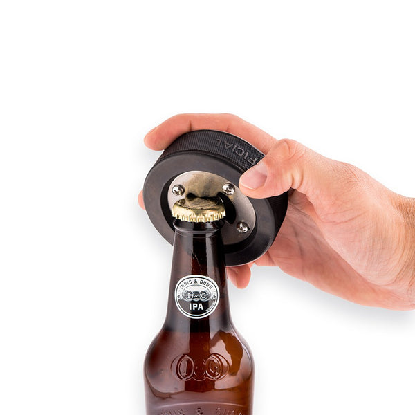 or Fathers Day Groomsmen Hockey Dad Bottle Opener Customized Beer Opener Great Gift for Men Hockey Puck