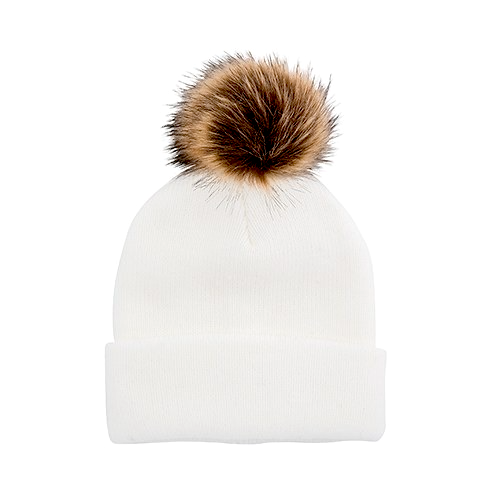 Faux Fur ribbed Toque Hat