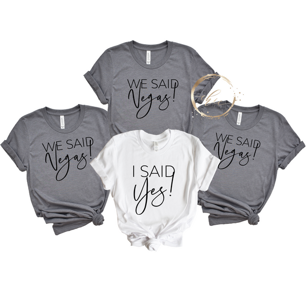 I said YES! Bridal Party Bundle