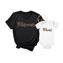 Mommy & Me Mama & Mini Leopard T-Shirt Set