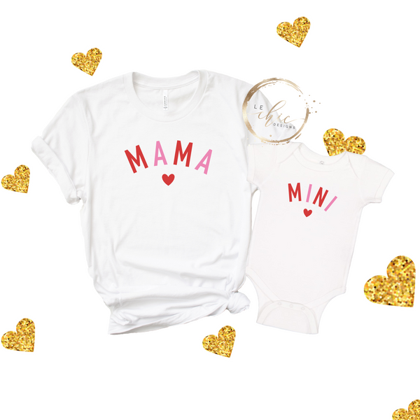 Mama & Mini Valentine's T-Shirt Set