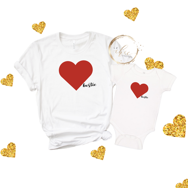 Mama & Mini Bestie Valentine's T-Shirt Set