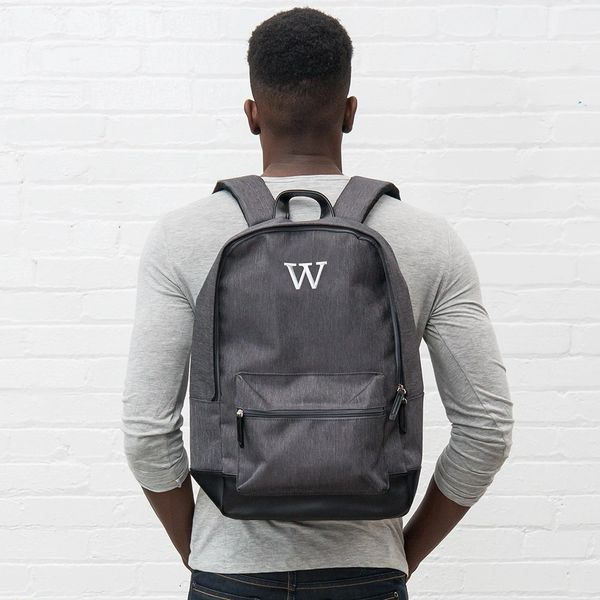 Personalized Classic Backpack - Heathered Black