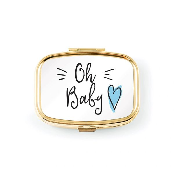 Small Gold Baby Keepsake-Blue