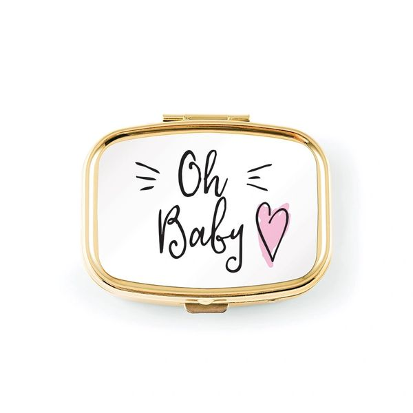 Small Gold Baby Keepsake-Pink