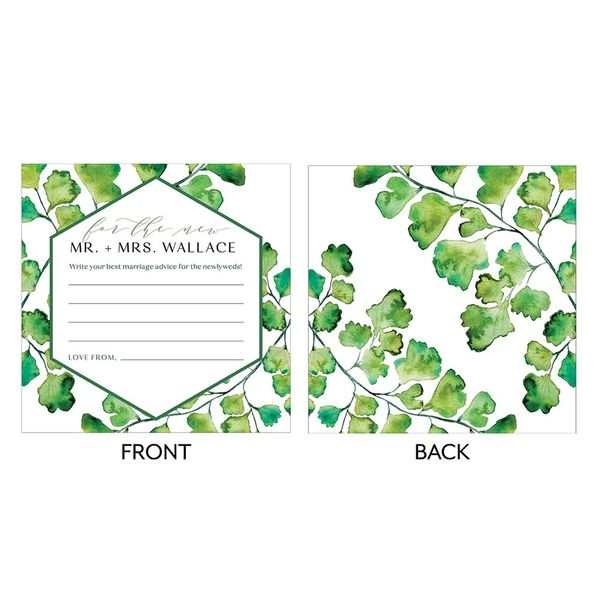 Wedding Lib Advice Cards-Greenery