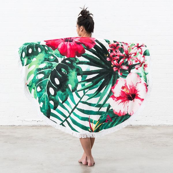 Tropical Hibiscus Large Beach Towel