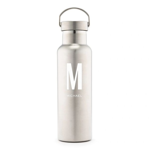 Personalized Chrome Reusable Water Bottle