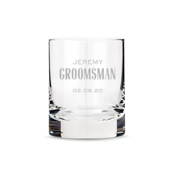 Old Fashioned Whiskey Glass-Groomsmen