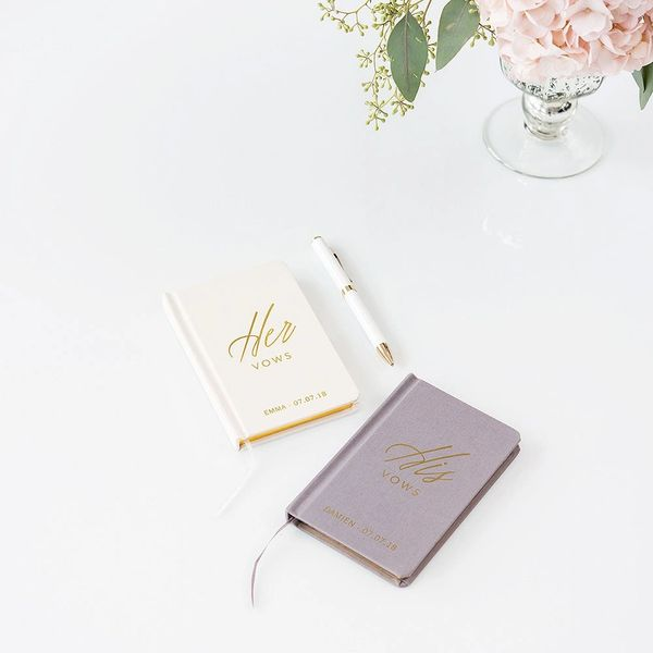Personalized His/Her Vow Journal