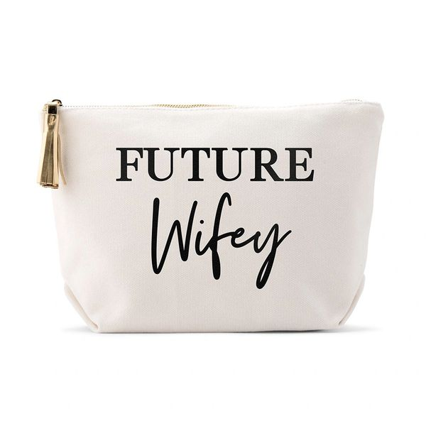 Large Personalized Canvas Makeup Bag