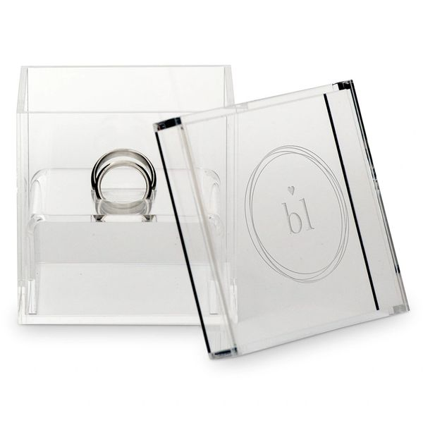 Clear Acrylic Ring Box