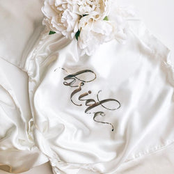 GOLD Aria Bride Satin Robe