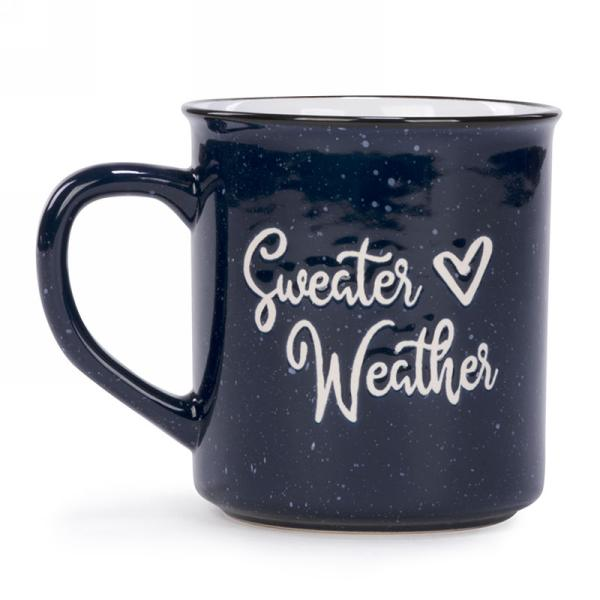 Sweater Weather Blue Mug