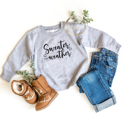 Sweater Weather youth crewneck