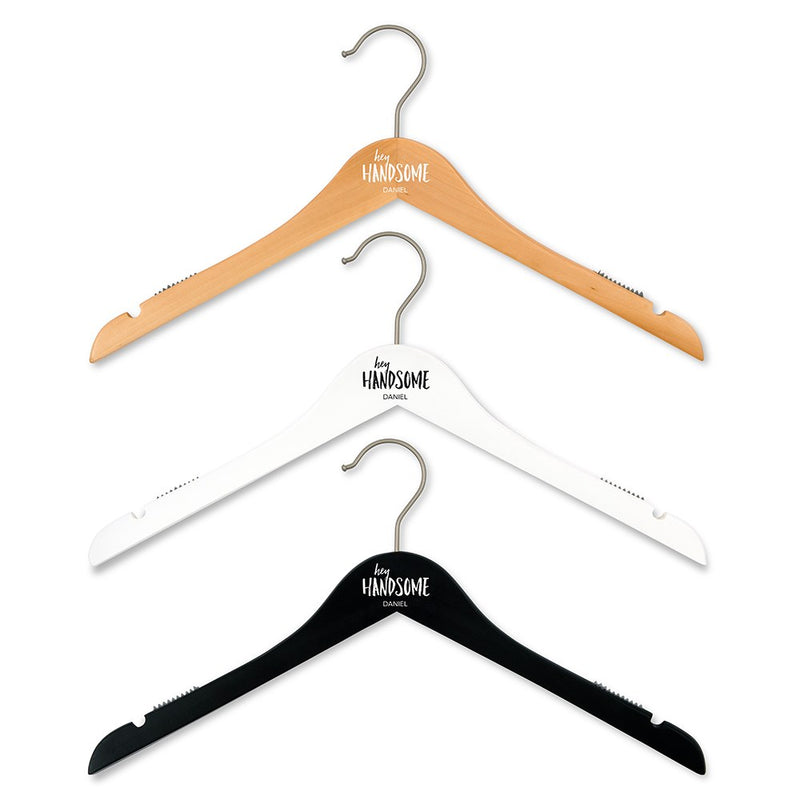 Men's Personalized Wooden Clothes Hanger