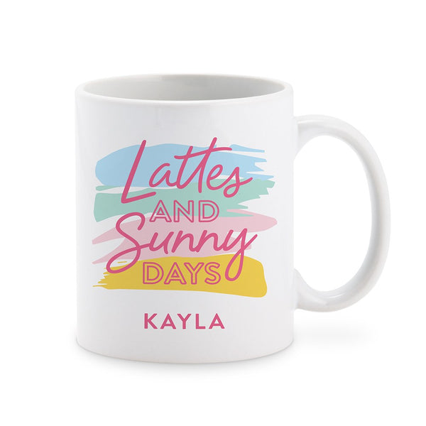 Latte & Sunny Days Personalized Mug