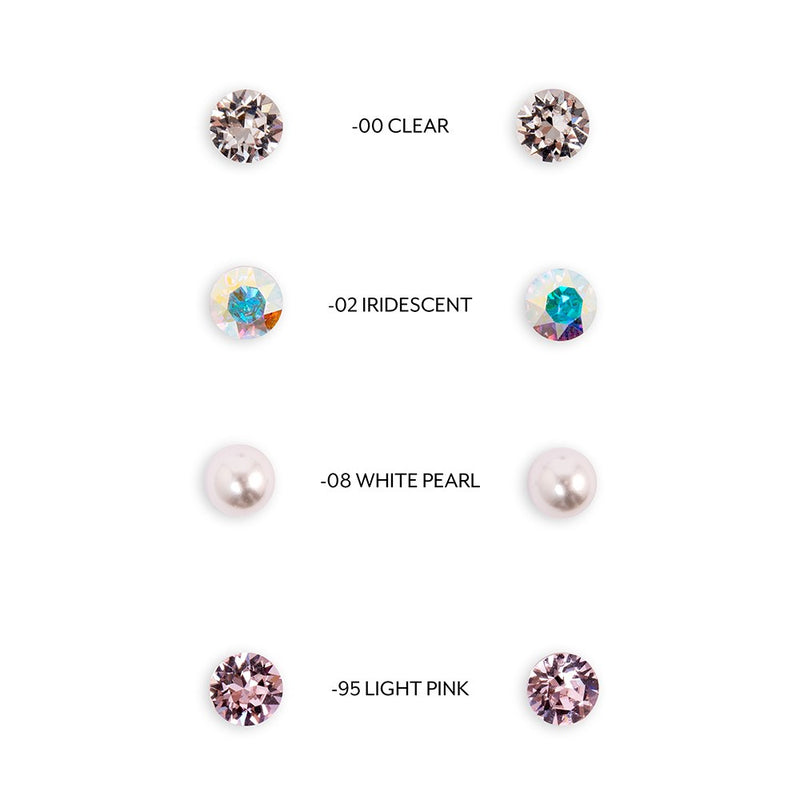 Swarovski Crystal Or Pearl Stud Earrings-Thank you Script