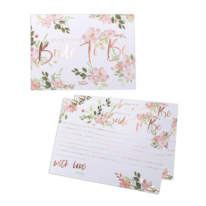 Bride to be Advice Cards