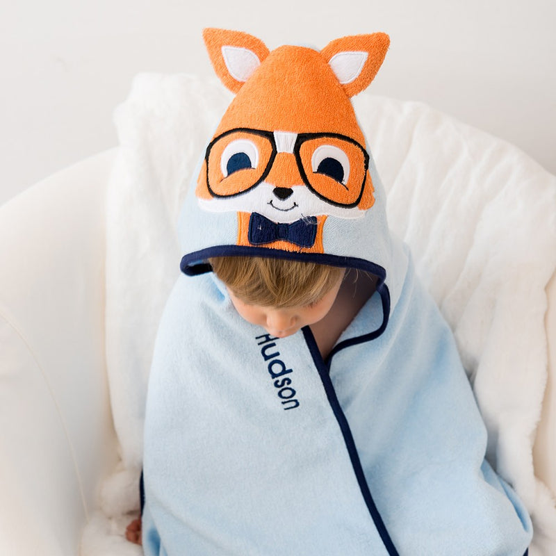 Fox Animal Face Hooded Towel