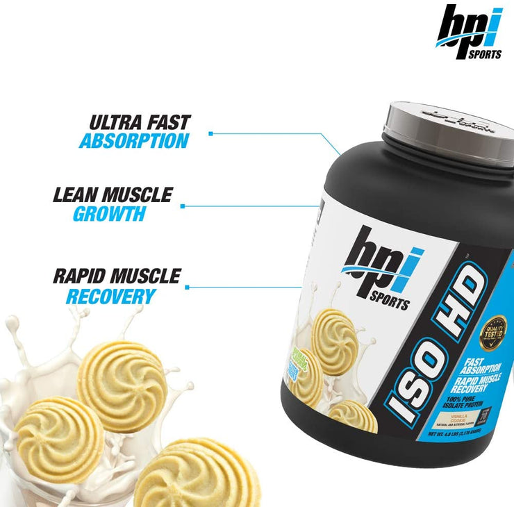 BPI Sports, ISO HD, 100% Pure Isolate Protein, VANILLA COOKIE